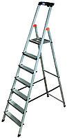 SAFETY Стремянка с большой полкой,8 ступеней,раб.высота 3.71м(128980)