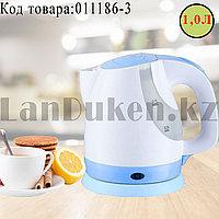 Электрический чайник с функцией авто отключения SDH-203 синего цвета