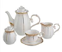 """Чайный сервиз """"Цветочная симфония"""" на 6 персон (15 предметов)"""