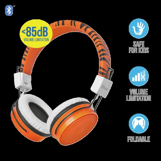 Наушники-накладные проводные Trust Comi Bluetooth оранжевый