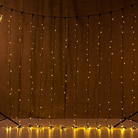 """Модульная гирлянда """"Дождь"""" 6х2 метра, тёплый белый свет, 400 лампочек, 8 режимов свечения"""