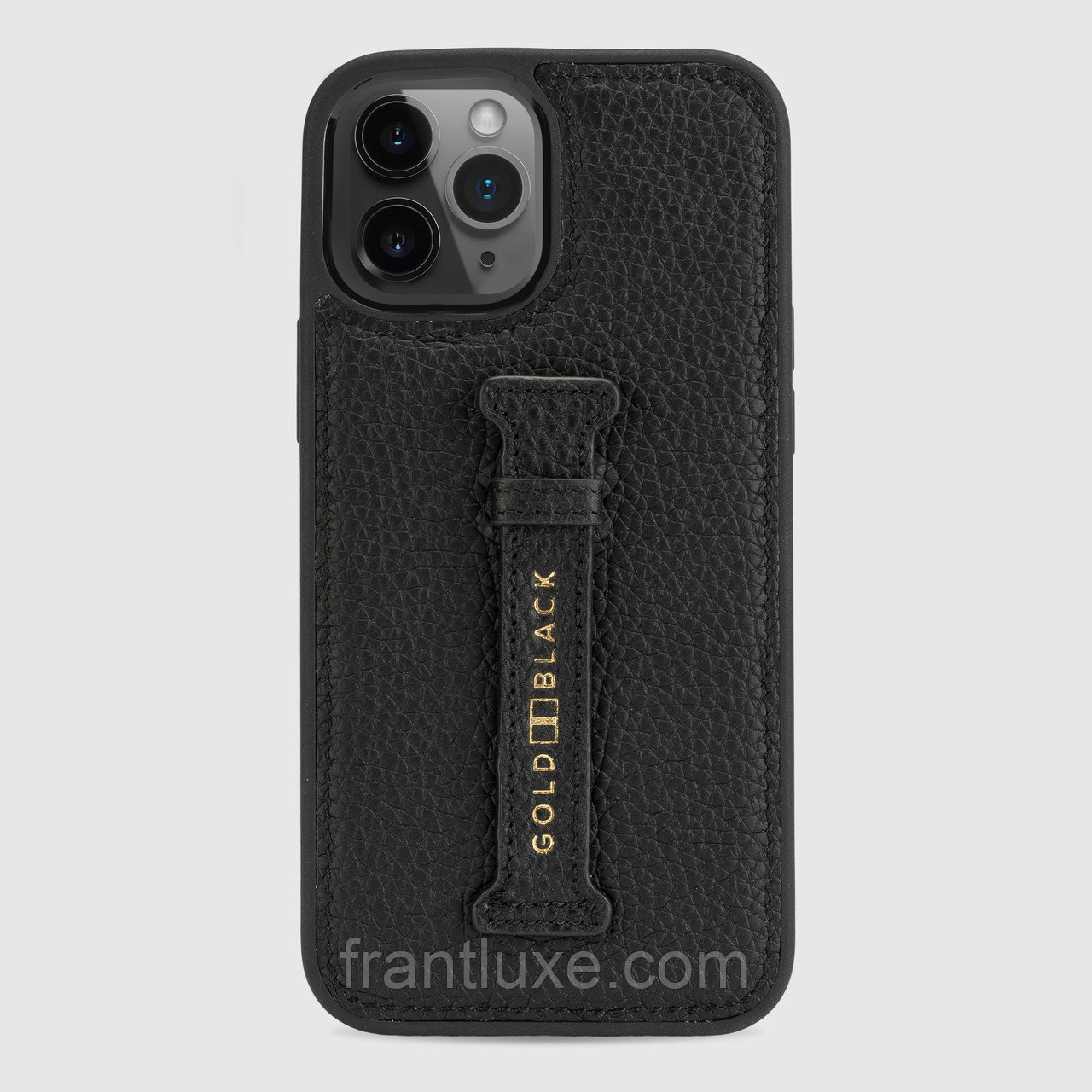 Чехол для телефона iPhone 12 Pro Max с ремешком-держателем Nappa Black - фото 2