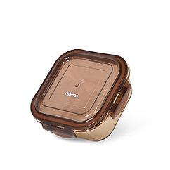 Контейнер с пластиковой крышкой 13x13x5 см / 520 мл (стекло)