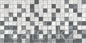 Кафель   Плитка настенная 25х50 Мегаполис   Megapolis серая мозайка