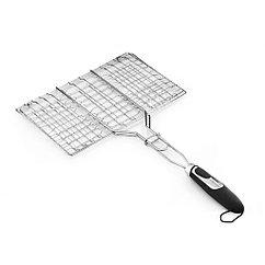 Решетка для стейка 35,5x22,5x2,5 см с пласт. ручкой