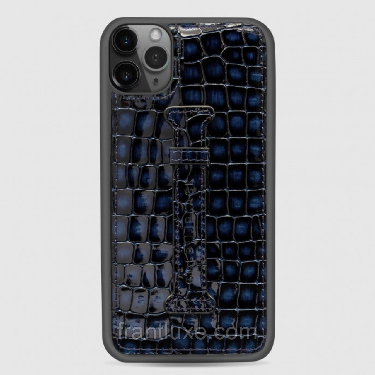 Чехол для телефона iPhone 12 Pro Max с ремешком-держателем синий - фото 2