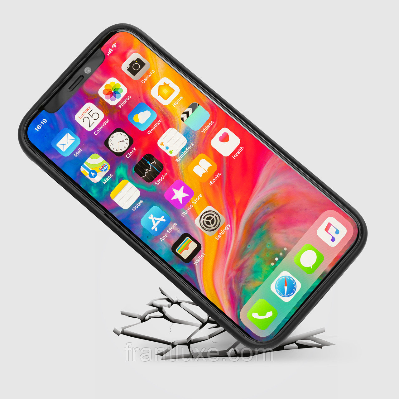 Чехол для телефона iPhone 12 Pro Max с ремешком-держателем синий - фото 9