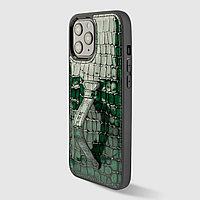 Чехол для телефона iPhone 12 Pro Max Finger-holder Green