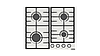Встраиваемая газовая плита DANKE 6400 C inox 2