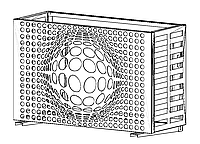 Корзина для кондиционера Модель № 012 серый