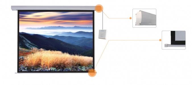 "Экран моторизированный Mr.Pixel 150"" x 200"" (3,81 x 5,08)"