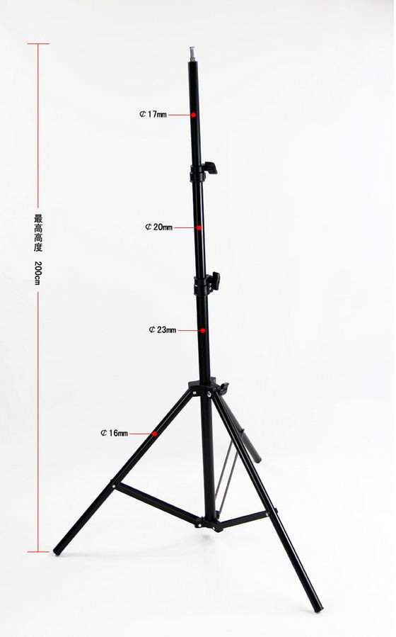 """5 Стоек оптом 190 см для студийного света до 3 кг с алюминиевой головкой 1/4 """""""
