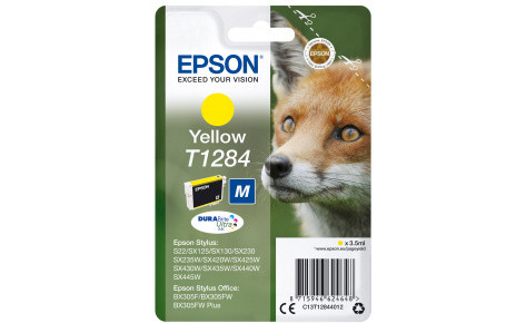 Картридж Epson C13T12844012  I/C yellow for S22/SX125 желтый new