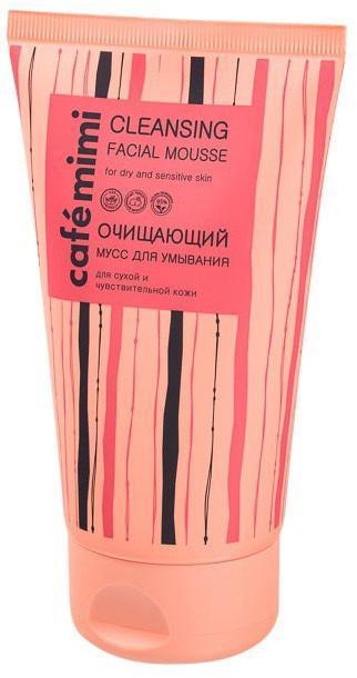 Очищающий муз для умывания для сухой и чувствительной кожи cleansing facial mousse