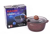 Кастрюля - жаровня 5л, красная «Granit Ultra» (Кукмара, Россия)