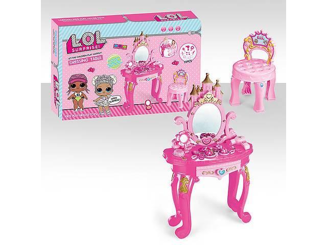 """Детский туалетный столик """"LOL"""" , трюмо ЛОЛ со стульчиком"""