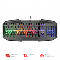 Клавиатура игровая Trust RU GXT830-RW AVONN GAMING KB черный