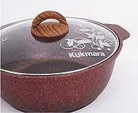 Кастрюля - жаровня 4л, красная «Granit Ultra» (Кукмара, Россия)