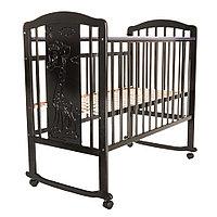Кровать детская Pituso Noli колесо-качалка Жирафик Венге, фото 1