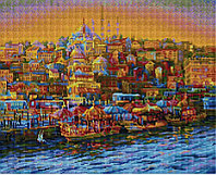 """Алмазная мозаика на деревянном подрамнике """"Турецкий город"""" 40х50 см"""