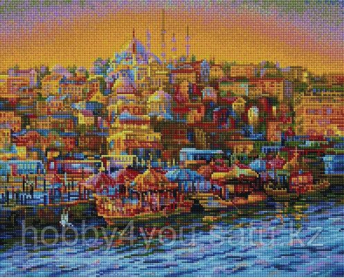 """Алмазная мозаика на подрамнике """"Турецкий город"""" 40х50 см, фото 2"""