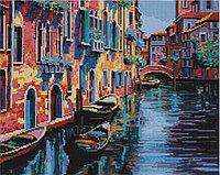 """Алмазная мозаика на деревянном подрамнике """"Канал в Венеции"""" 40х50 см"""