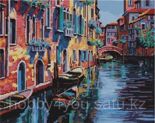 """Алмазная мозаика на подрамнике """"Канал в Венеции"""" 40х50 см, фото 2"""