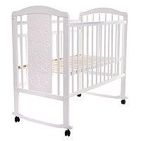 Кровать детская Pituso Noli колесо-качалка Мишутка Белый