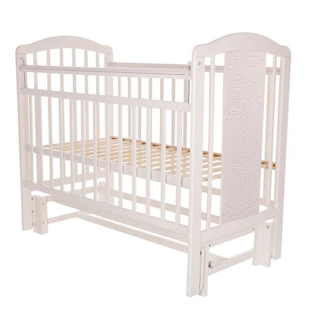 Кровать детская Pituso Noli универсальный маятник Жирафик Белый