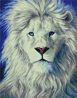 """Алмазная мозаика на деревянном подрамнике """"Белый лев"""" 40х50 см"""