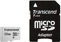Карта памяти MicroSD 32GB Class 10 U1 Transcend TS32GUSD300S-A