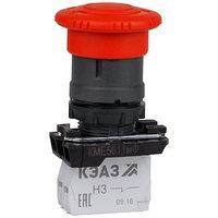 Кнопка КМЕ5611мФ-красный-1но+1нз-гриб-IP65-КЭАЗ