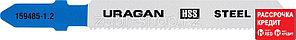 Полотна  URAGAN T118A, по металлу, HSS,  T-хвост, шаг 1,2мм, 75/50мм, 2шт(159485-1.2_z02)