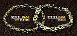"""Комплект цепь+браслет """"Steel Rage Золотой титан"""", фото 8"""