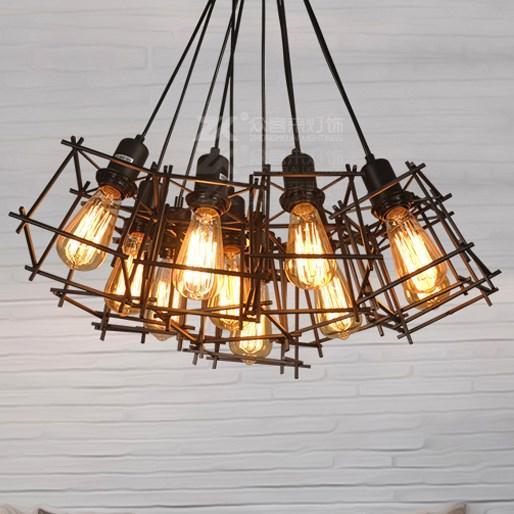 Черная подвесная люстра в стиле лофт на 8 ламп SD6191-8BK - фото 3