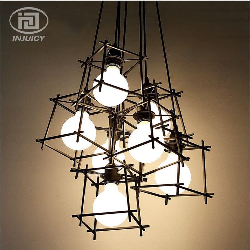 Черная подвесная люстра в стиле лофт на 8 ламп SD6191-8BK - фото 1