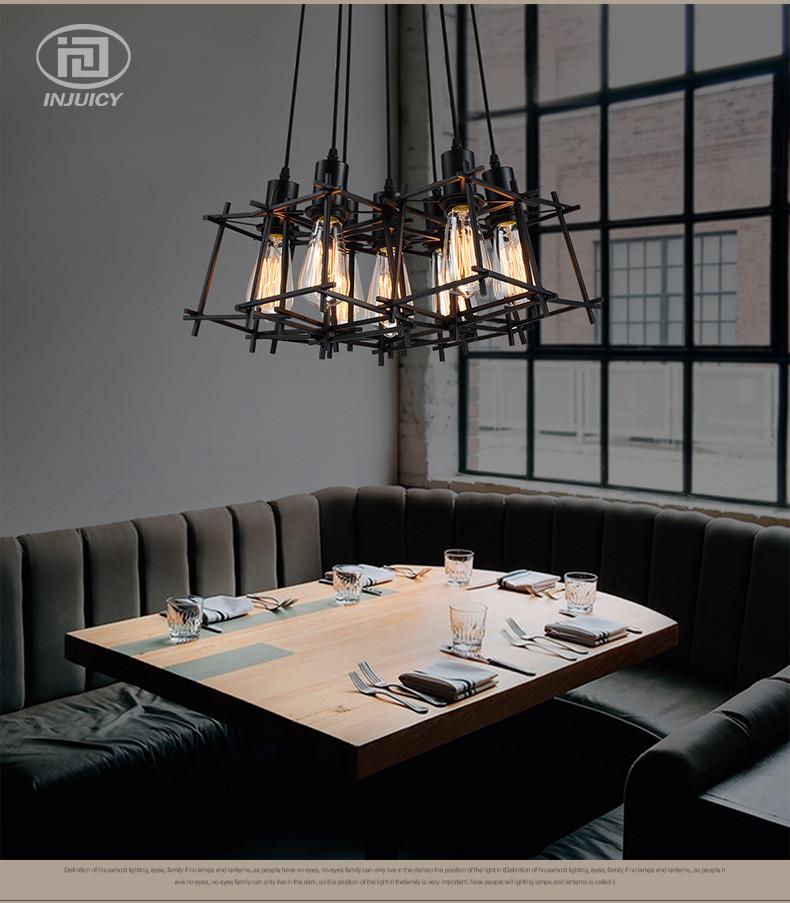 Черная подвесная люстра в стиле лофт на 8 ламп SD6191-8BK - фото 2