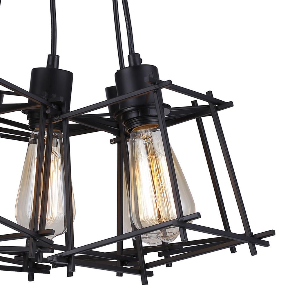 Черная подвесная люстра в стиле лофт на 8 ламп SD6191-8BK - фото 5