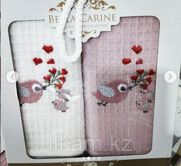 """Подарочный набор полотенец """"Птички"""". (40х60)"""