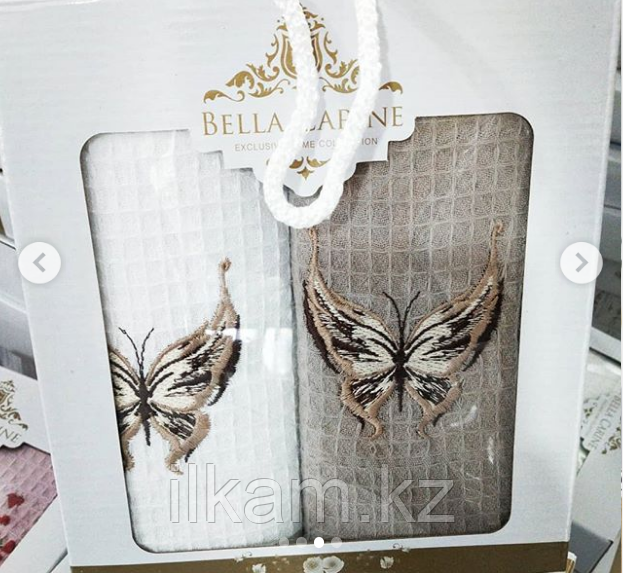 """Подарочный набор полотенец """"Бабочка"""". (40х60)"""