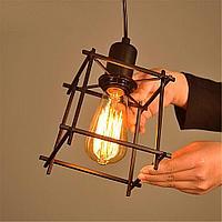 Черная подвесная люстра в стиле лофт на 1 лампу SD6191-1BK