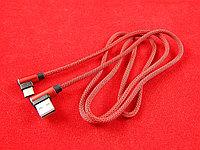 Кабель USB А на угловой Type C (1.2M)