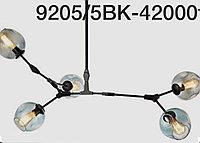Лофт люстра 9205 5bk потолочная с 5 плафонами