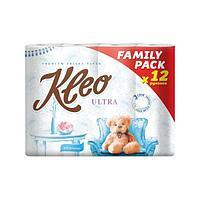 Бумага туалетная Kleo Ultra, 3 слоя, 12 рулонов, 12 шт