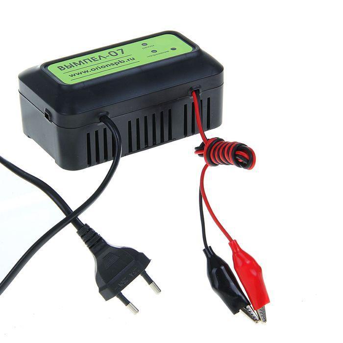 """Зарядное устройство АКБ """"Вымпел-07"""", 1.2 А, 12 В, для гелевых, кислотных и AGM АКБ, до 20 Ач"""