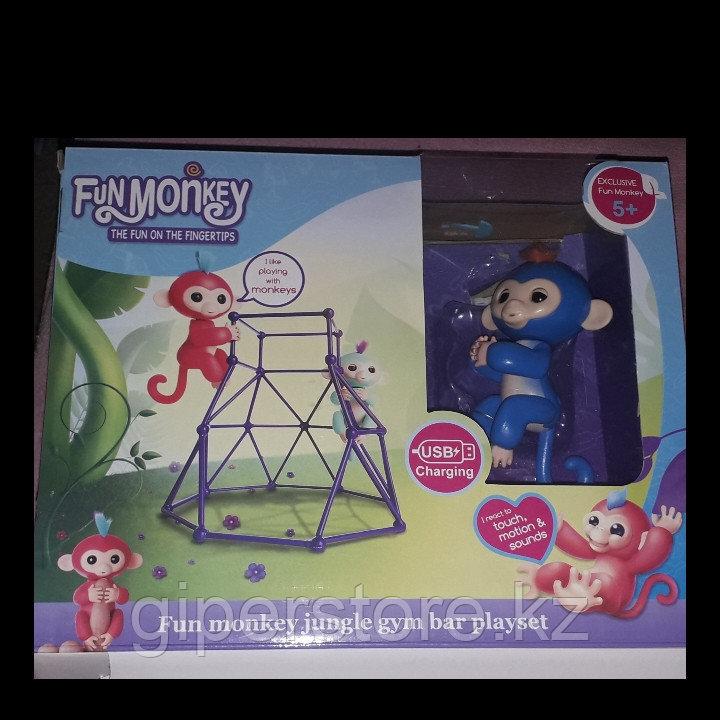 """Интерактивная игрушка """"Обезьянка"""" ,  Funmonkey с детской игровой площадкой и с зарядкой от сети."""