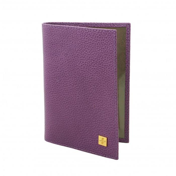 Обложка для паспорта Purpur, матовая кожа, цвет пурпурный