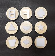 Комплект фишек к мольберту «Ромашка» «Геометрические фигуры объемные» (ДИ-235)