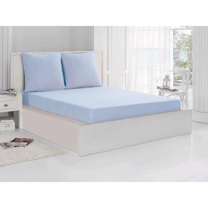 Комплект из простыни и наволочек Acelya 140 x 160 см, 70 x 70 см - 2 шт., цвет светло - голубой