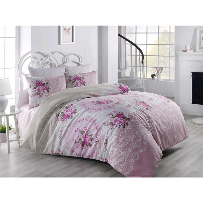 КПБ Ranforce Arven евро, 240x260 см, 200x220 см, 50x70 см - 2 шт, цвет розовый